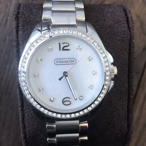 Coach stainless steel crystal watch